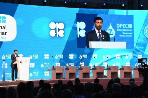 UAE Energy Minister, Suhail Mohammed Faraj Al Mazroui in Vienna, Austria on 20 June 2018 [Aşkın Kıyağan/Anadolu Agency]
