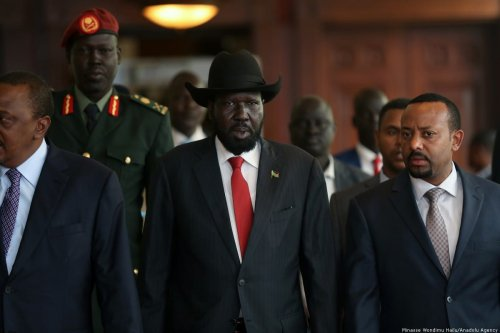 South Sudan President Salva Kiir in Addis Ababa, Ethiopia [Minasse Wondimu Hailu/Anadolu Agency]