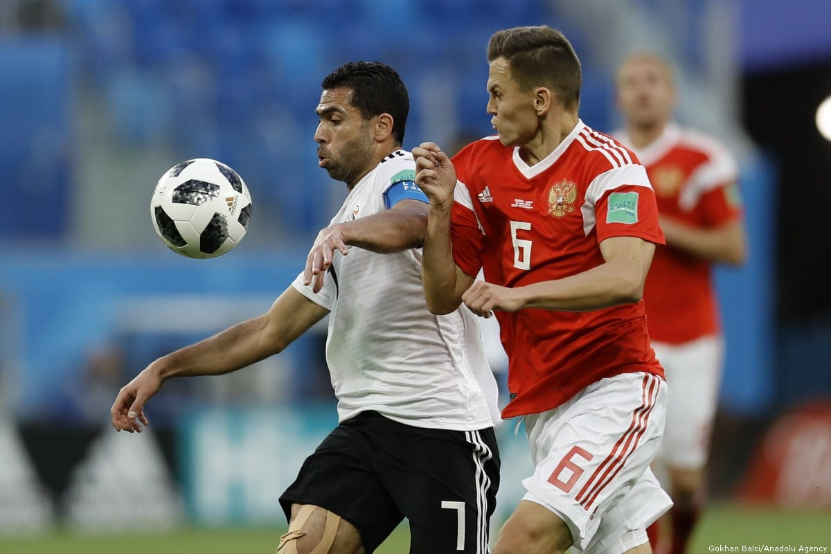 The 2018 FIFA World Cup between Russia and Egypt in Russia on 19 June 2018 [Gökhan Balcı/Anadolu Agency]