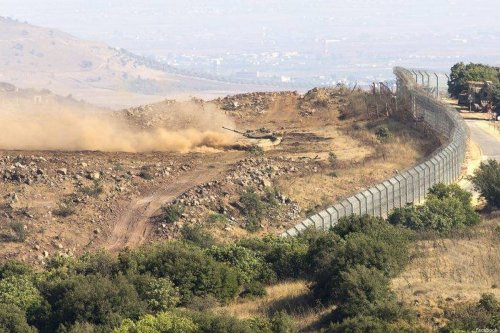 The border between Israeli occupied Golan Heights and Syria [Facebook]
