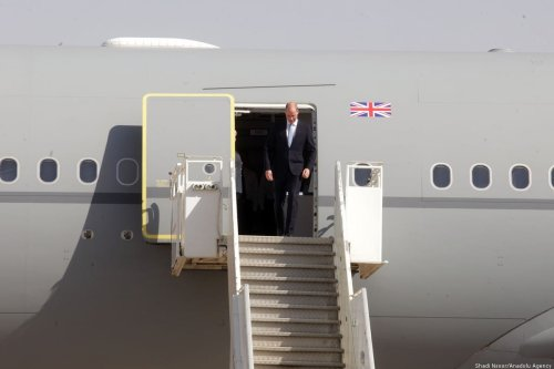 UK Prince Williams arrives at the Marka International Airport to hold official visits in Amman, Jordan on 24 June 2018 [Shadi Nsoor/Anadolu Agency]