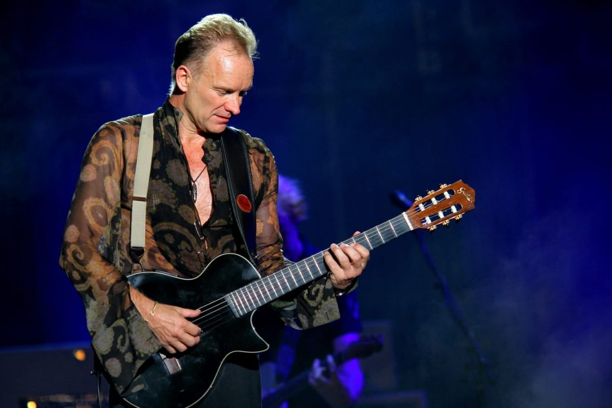 Sting, as seen performing live in Milan on June 23, 2006 [Yancho Sabev / Wikipedia]