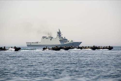 Tripartite air/sea military exercises begin along Egypt's Mediterranean coast.