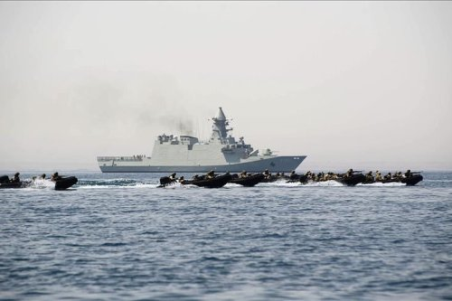 Tripartite air/sea military exercises begin along Egypt's Mediterranean coast.