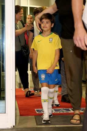 Columbian pop star Shakira's son is seen as they arrive for a concert in Istanbul, Turkey on July 10, 2018. Grammy award-winning singer will perform at Vodafone Park on July 11 as part of her 6th world tour 'El Dorado'. ( Onur Çoban - Anadolu Agency )
