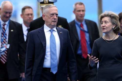 U.S. Secretary of Defense James Mattis (C) arrives on the second day of 2018 NATO (North Atlantic Treaty Organization) Summit at NATO headquarters on 12 July, 2018 in Brussels, Belgium [Dursun Aydemir/Anadolu Agency]