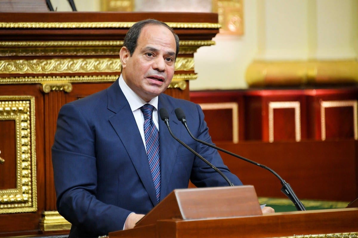 Egyptian President Abdel Fattah Sisi in Cairo, Egypt [Egyptian President Office/Apaimages]