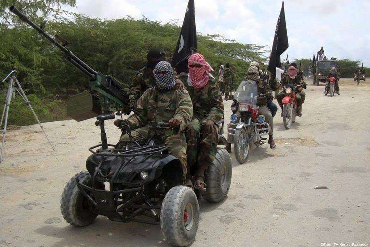 Al-Shabaab militants [Citizen TV Kenya/Facebook]