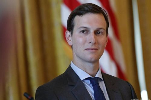 US President Donald Trump's son-in-law and Senior Advisor Jared Kushner [Aqsa News Agency/Twitter]