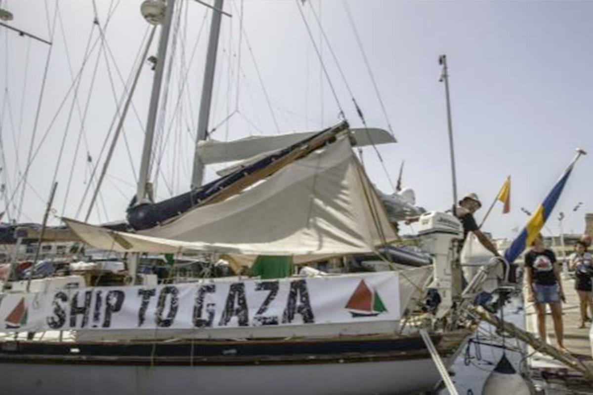 Gaza-bound boat part of the Freedom Flotilla [Twitter]