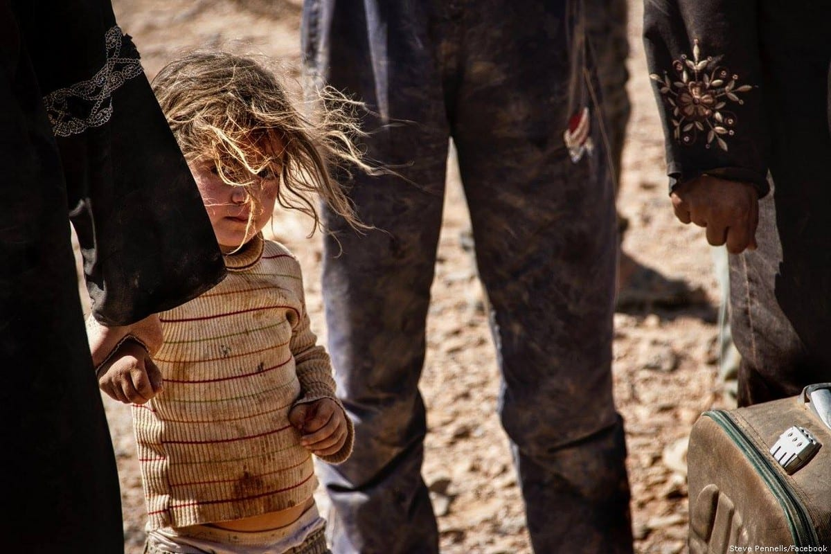 Syrian refugees are found at the Jordanian border