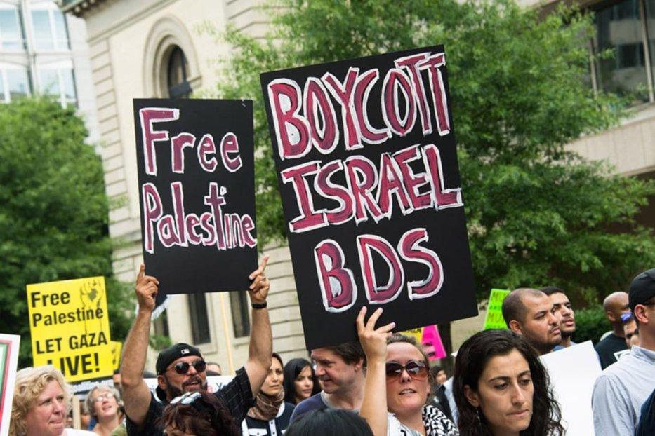 BDS protesters [Twitter]