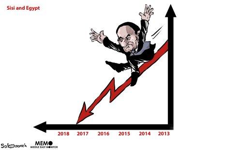 Sisi's popularity is decreasing - Cartoon [Sabaaneh/MiddleEastMonitor]