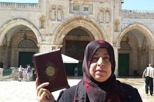 Aida Sidawi arrested by IOF for entering Al-Aqsa compound [maannews.com]