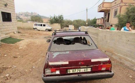 Settlers in Nablus damaged Palestinian property in a racially motivated attack