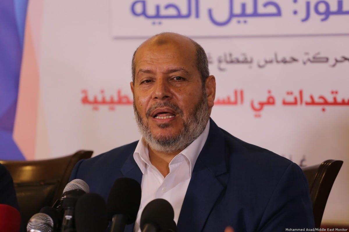 Deputy Hamas leader in Gaza Khalil Al-Hayya [Mohammed Asad/Middle East Monitor]