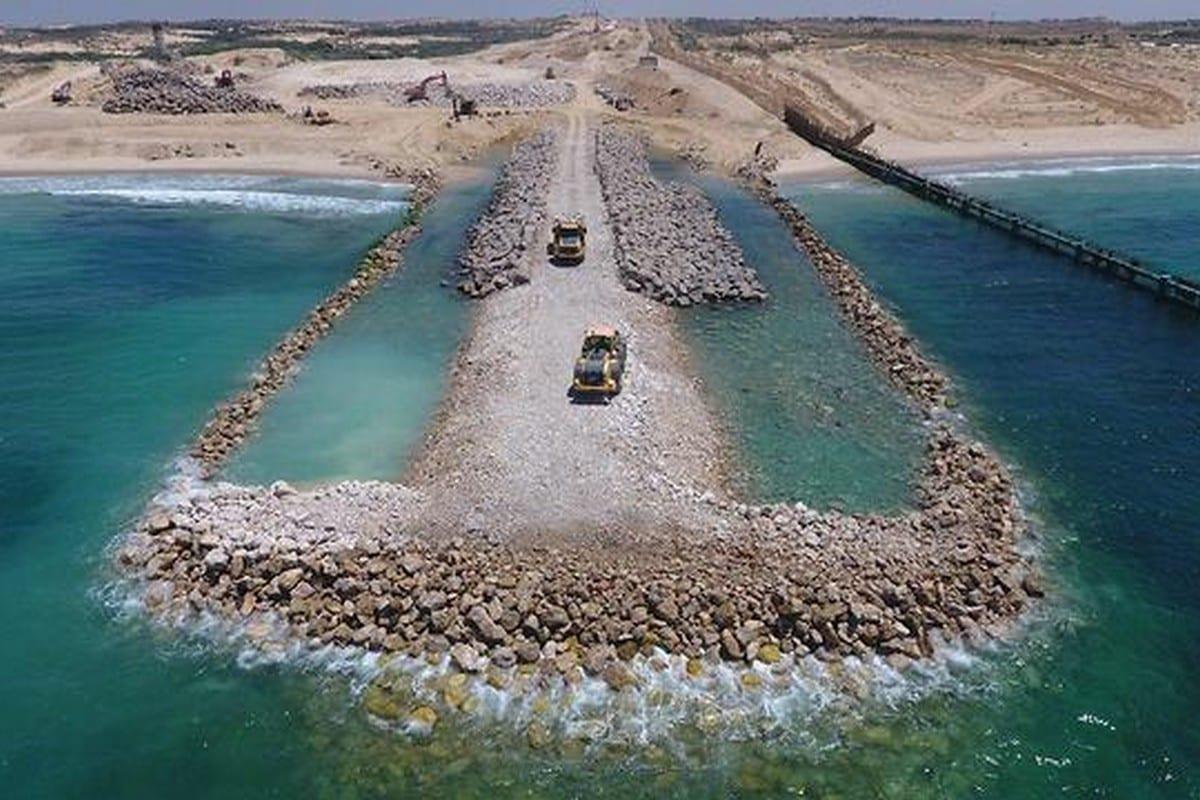 Israel's underwater barrier designed to further blockade the besieged Gaza Strip