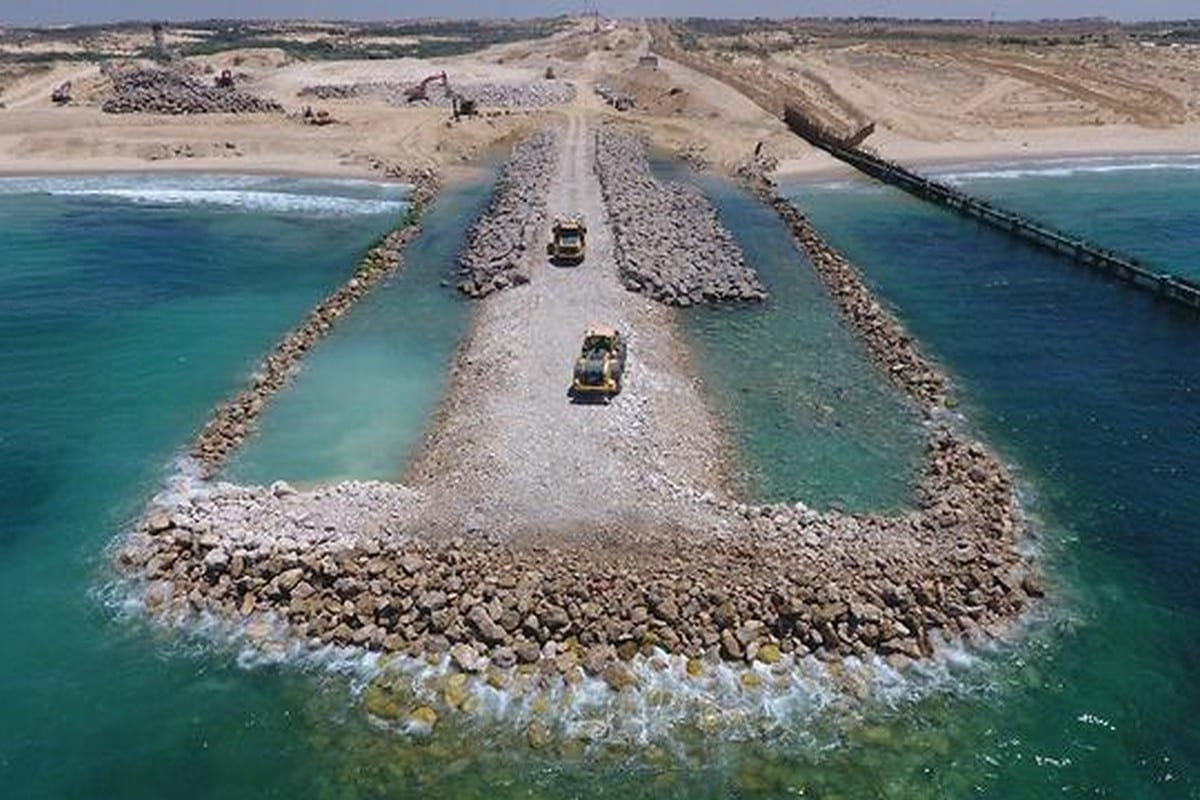 Israel's underwater barrier designed to further blockade the besieged Gaza Strip