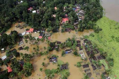 Ariel view of the flood in Kerala, India [NehaJamshid/Twitter]