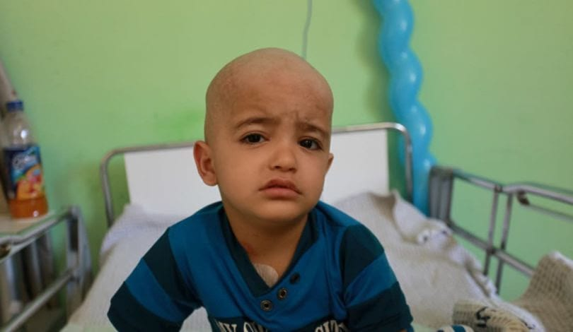 Three-year-old Luay from Gaza has been transferred to the occupied West Bank for cancer treatment