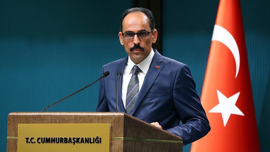 Turkey's presidential spokesman, Ibrahim Kalin