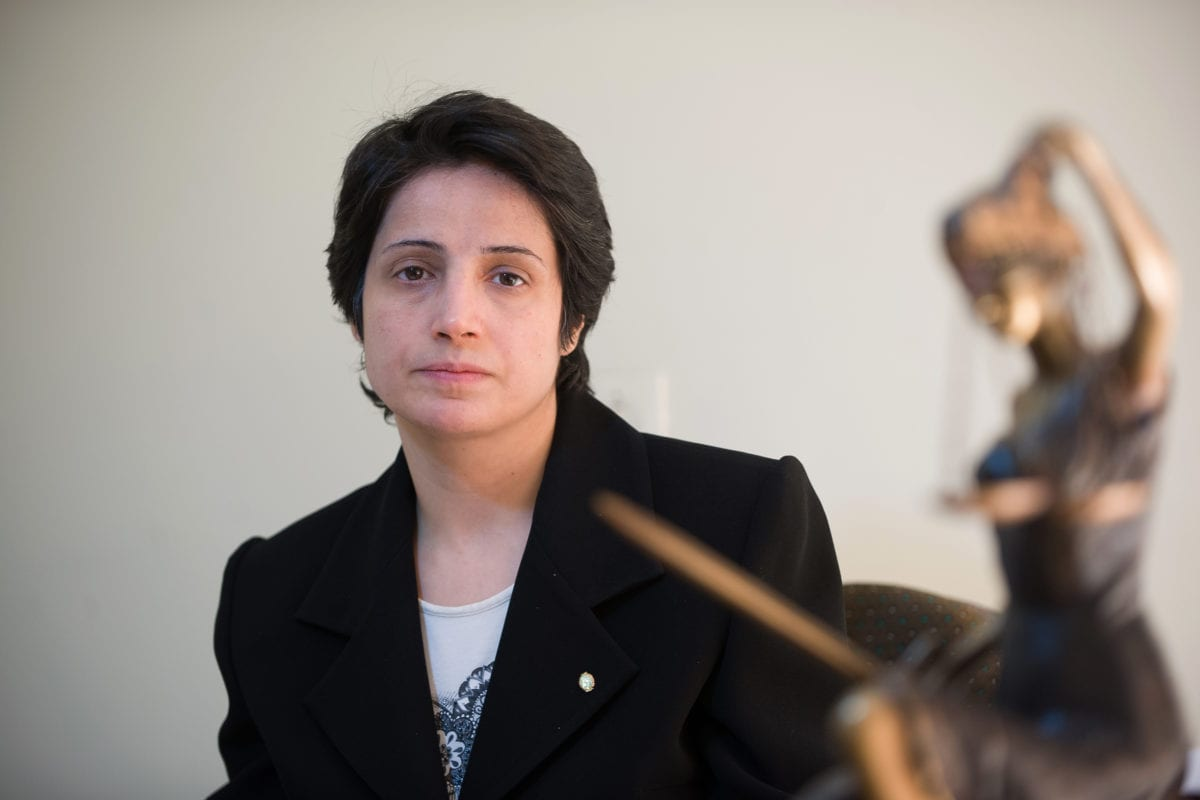 Iranian lawyer Nasrin Sotoudeh is seen in Tehran on November 1, 2008 [Arash Ashourinia/AFP/Getty Images]