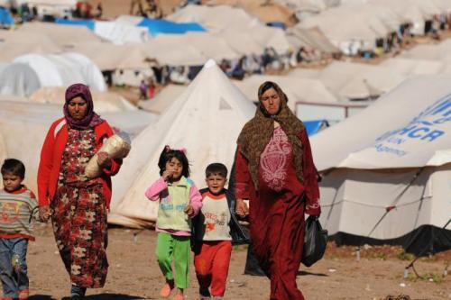 An estimated 2.9 million people live in the northern region of Idlib, half of them already displaced from other areas in Syria as opposition supporters fled there from other areas captured by government forces.