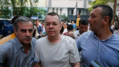 Pastor Andrew Brunson, who faces terror-related charges, is under house arrest in Aegean province of Izmir, Turkey