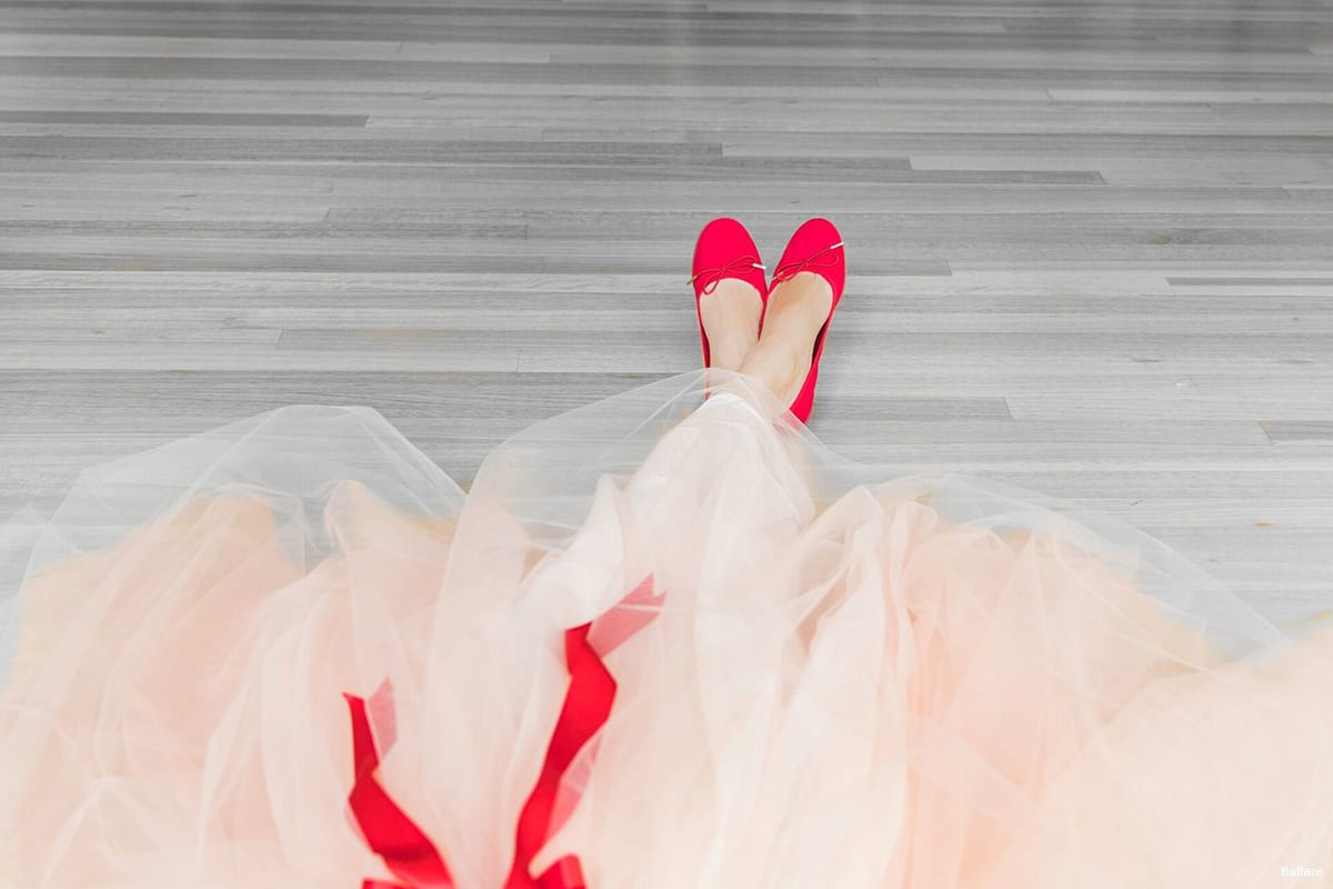 The sales from Ballare Ballet shoes go toUNRWA [Ballare]