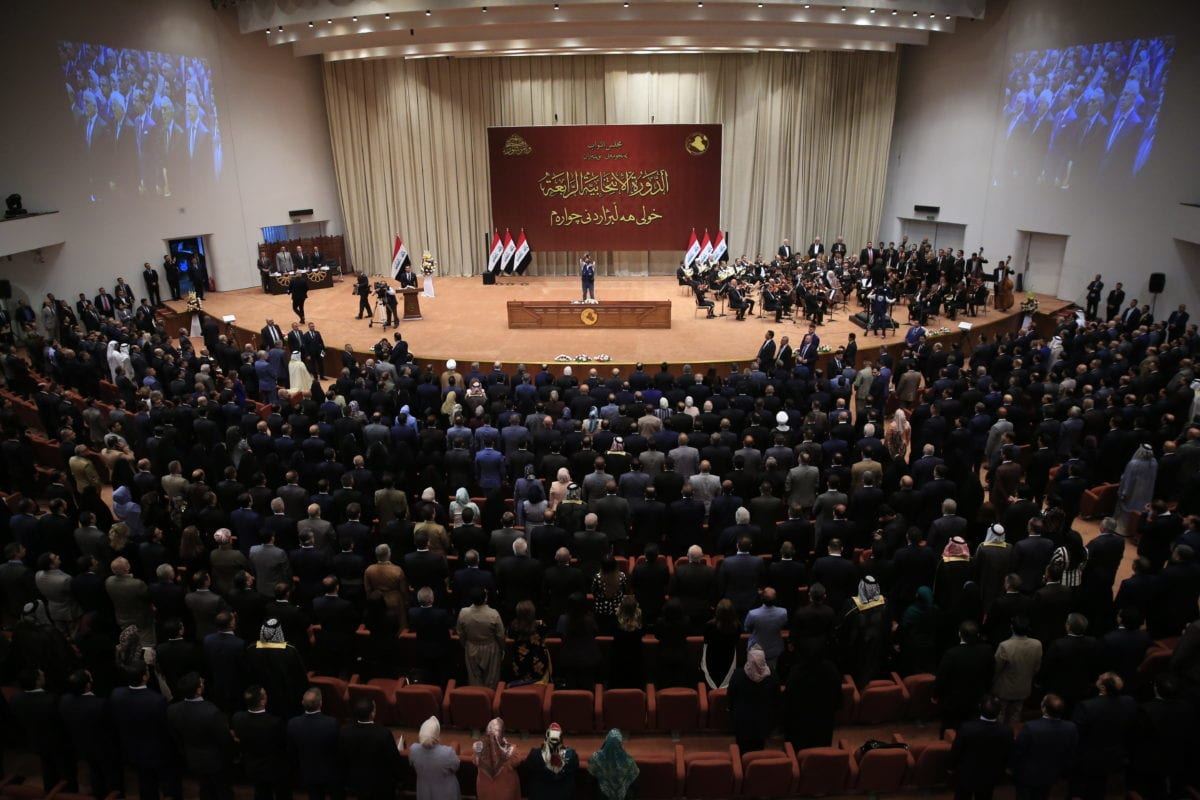 The opening session of New Iraqi Parliament held at the Parliament Building on 3 September 2018 in Baghdad, Iraq. [Haydar Karaalp - Anadolu Agency]