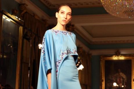 Art Nouveau at London Fashion Week in September 2018 [Jehan Alfarra/Middle East Monitor]