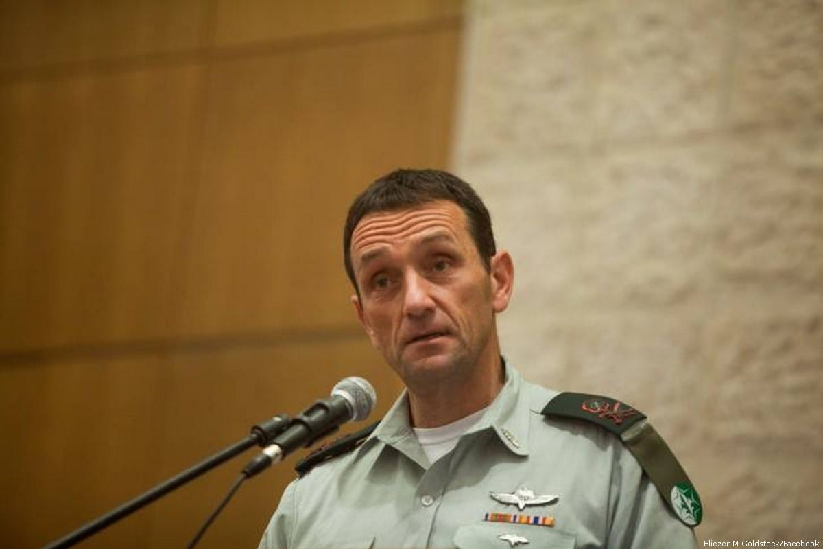 Head of the Southern Command of the Israeli Army, Herzi Halevi [Eliezer M Goldstock/Facebook]