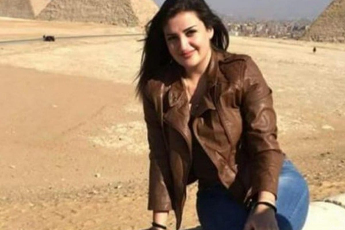 Mona el-Mazboh was arrested at Cairo airport at the end of her stay in Egypt [Twitter]