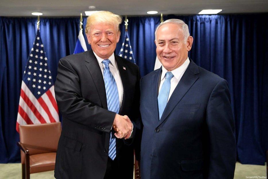US President Donald Trump (L) and Israeli Prime Minister Benjamin Netanyahu [IsraeliPM/Twitter]