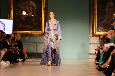 Sonia's design at London Fashion Week in September 2018 [Jehan Alfarra/Middle East Monitor]