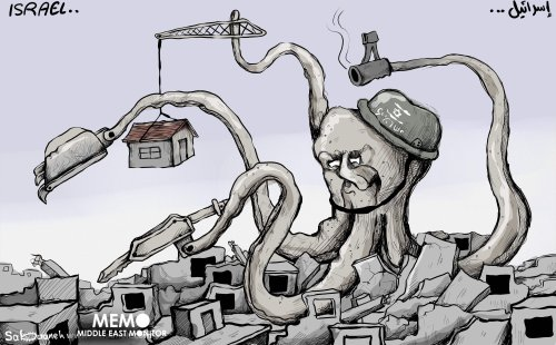More demolitions - Cartoon [Sabaaneh/MiddleEastMonitor]