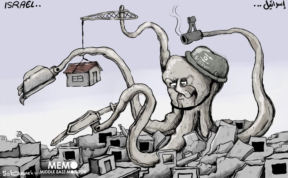 More demolitions - Cartoon [Sabaaneh/MiddleEastMonitor]