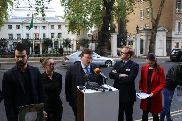 Saudi Embassy Press Conference - Ben Keith Barrister, 5 St. Andrew's Hill, London, 4 October, 2018 [Jehan Alfarra/Middle East Monitor]