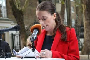 Saudi Embassy Press Conference - Sian Reeves Barrister, Temple Garden Chambers, London, 4 October, 2018 [Jehan Alfarra/Middle East Monitor]