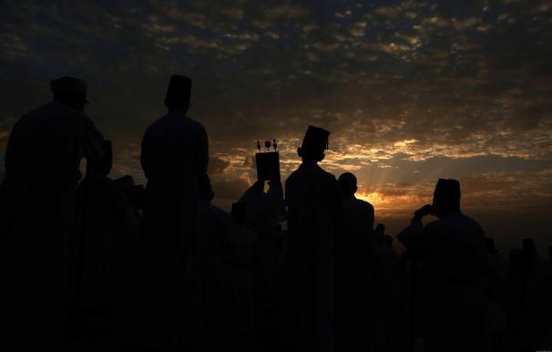 A beautiful sunset during celebrations West Bank, 23 October 2018 [Shadi Jarar'ah/Apaimages]