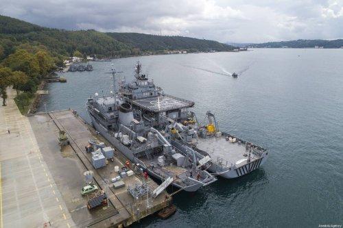 Turkish naval forces is seen docked in Istanbul, Turkey on 5 October 2018 [Muhammed Enes Yıldırım/Anadolu Agency]