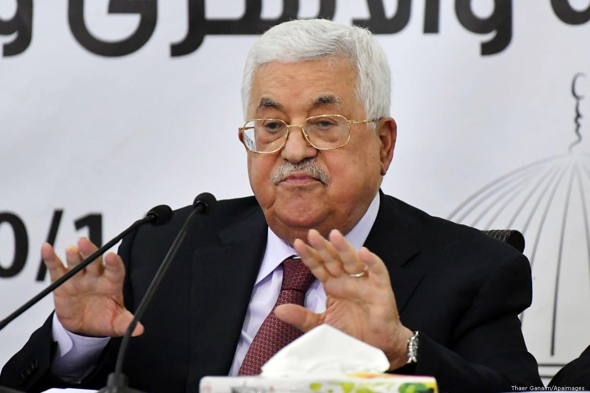 What got the Palestinian President angry?