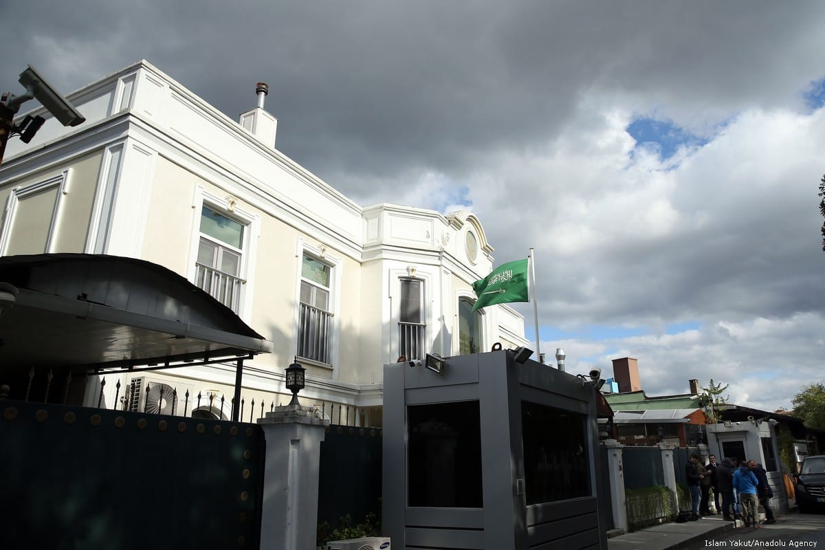 Outside view of the residence of Consul General of Saudi Arabia as the waiting continues on the killing of Prominent Saudi journalist Jamal Khashoggi in Istanbul, Turkey on 25 October 2018 [Islam Yakut/Anadolu Agency]