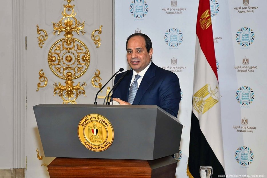 Egyptian President Abdel Fattah Sisi in Cairo, Egypt on 5 June 2018 [Egyptian President Office/Apaimages]