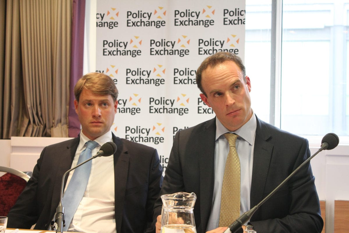 Chris Skidmore and Dominic Raab (R) at an event organised by Policy Exchange, seen on October 9, 2012 [Policy Exchange / Flickr]