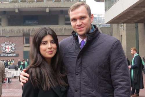 Matthew Hedges with his wife Daniela Tejada [Family handout]