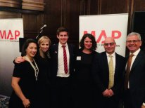 C4G Team (zara) with the team from MAP (the NGO we are supporting this year) at a reception in London to raise funds and awareness