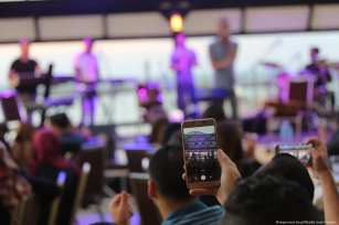 A jazz concert was held in the Gaza Strip for the first time in years on 10 October 2018 at the Roots Hotel in Gaza City [Mohammed Asad/Middle East Monitor]