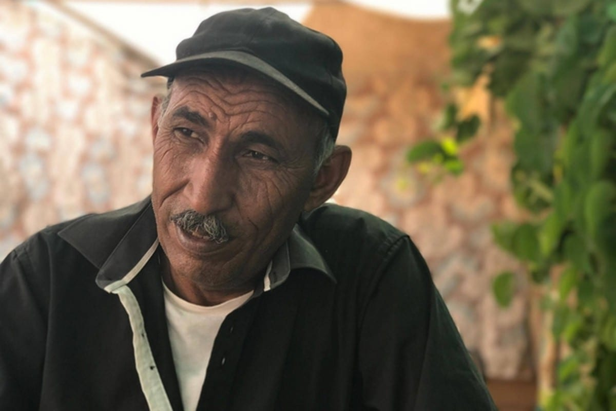 Eid Abu Khamees, a resident of Khan al-Ahmar and village leader