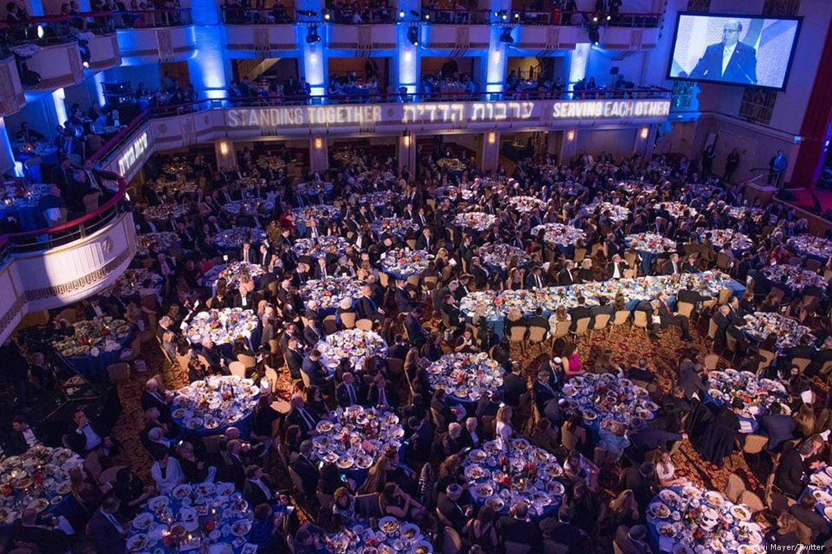 A New York City gala held by the Friends of the Israel Defence Forces (FIDF) on 27 March 2016 [Avi Mayer/Twitter]